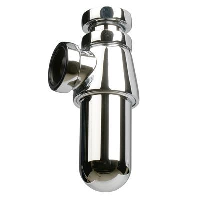 "SanCeram 1 1/4"" Chrome plated brass bottle trap"