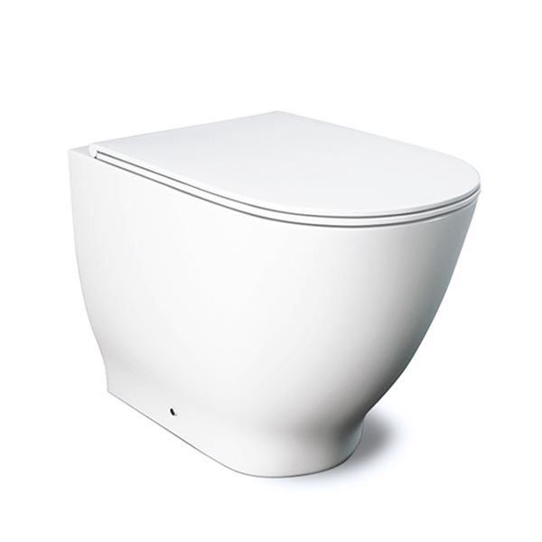 Langley Curve Back to Wall Rimless Toilet Pan - LLWC122