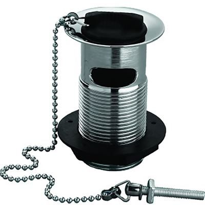 "SanCeram 1 1/4"" Plug and chain waste, slotted tail"