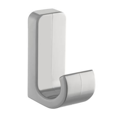 Plastic Coat Hook - Light Grey