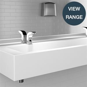 SanCeram Wash Trough basin for commercial or education sector washroom