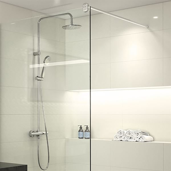 Vision cool touch bar shower with diverter to fixed head & handset
