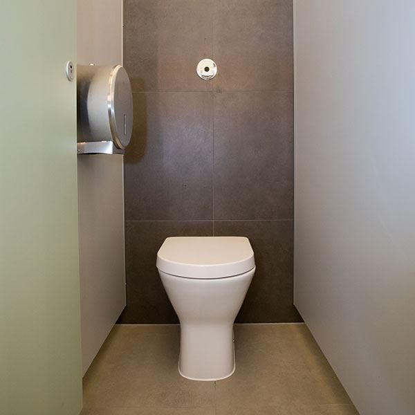 Langley Back to Wall Rimless Toilet Pan at Dover Castle
