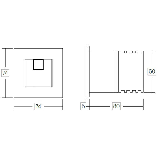 WC in Wall Support Frame with Dual Flush Cistern and Square Button - CIST112