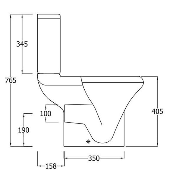 SanCeram Chartham WC system with cistern, soft close seat and cover