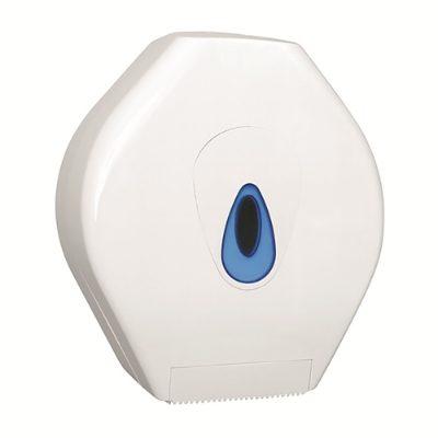 Plastic lockable mini jumbo toilet roll holder