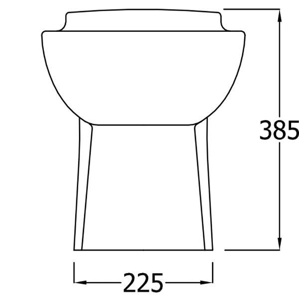 SanCeram Shenley child size toilet