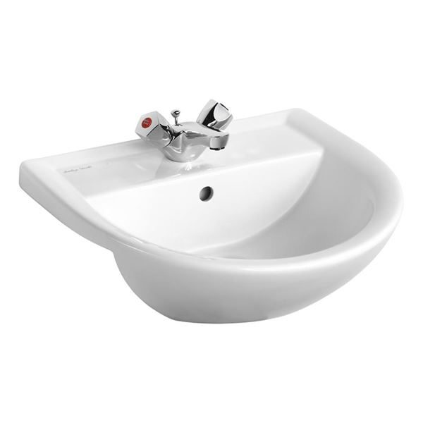 Armitage Shanks semi recessed basin 500mm – Armitage Shanks Sandringham 21 semi inset basin