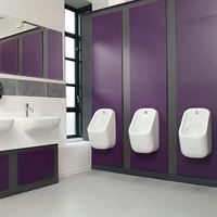 Marden concealed trap urinal bowl at Huddersfield University