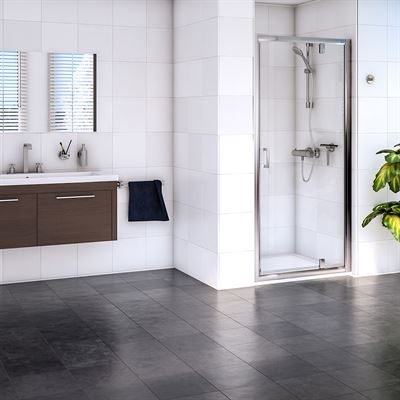 SanCeram pivot shower door