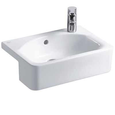 Ideal Standard semi-recessed basin 500mm - Ideal Standard Concept Space Cube semi recessed bathroom sink RHTH