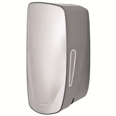 Lockable push action soap dispenser