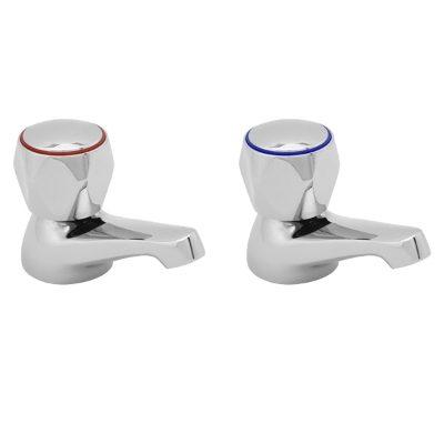Profile basin taps