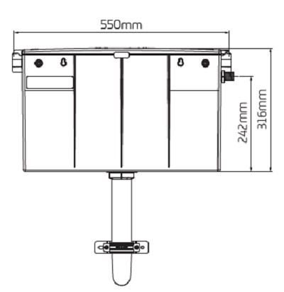OSMO T1 Concealed Cistern - CIST200