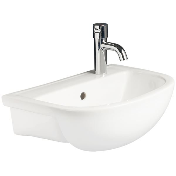 Chartham semi-recessed basin 450mm Right Hand Tap Hole