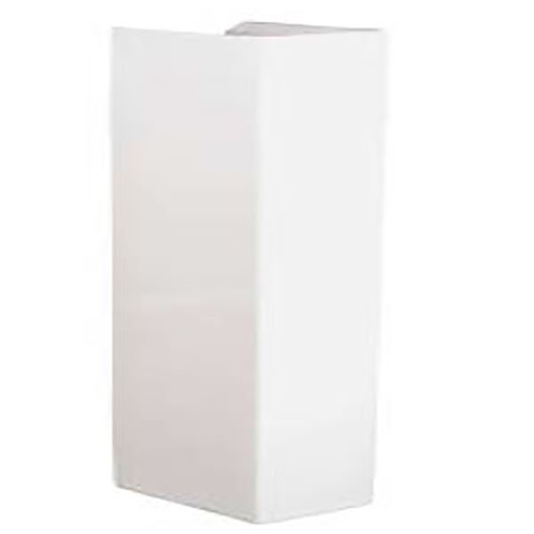 SanCeram Marden Semi basin pedestal only - for use with Marden 420mm wall mounted basins.