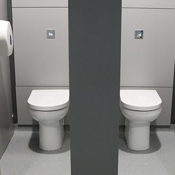 SanCeram Langley Back to Wall toilet pan at Leventhorpe Academy