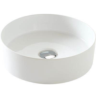 SanCeram Hartley vessel sink – round sit on basin for modern bathrooms