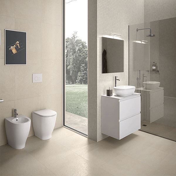 Langley Curve back to wall toilet pan