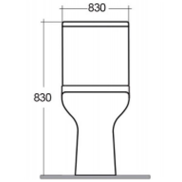 Chartham Close Coupled 750 Projection Toilet Pan with Cistern - CHWC107