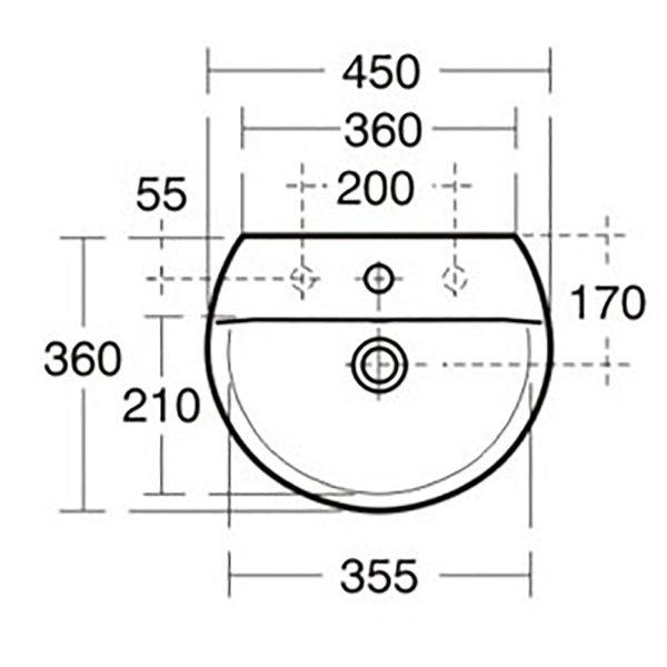 Ideal Standard Concept sphere 450mm wash basin
