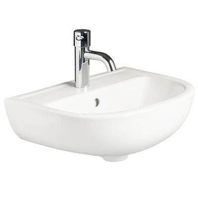 SanCeram Chartham 450 2TH modern wall hung wash basin
