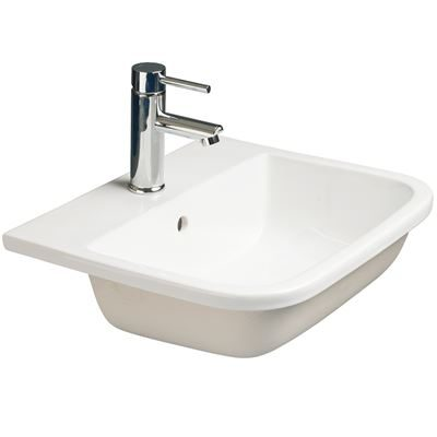 SanCeram Shenley 500 countertop basin - modern sanitary ware for leisure, education and healthcare