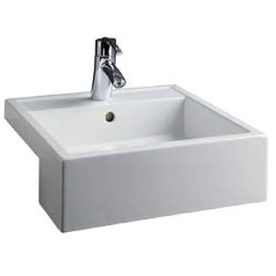 SanCeram Marden square semi recessed basin 460mm