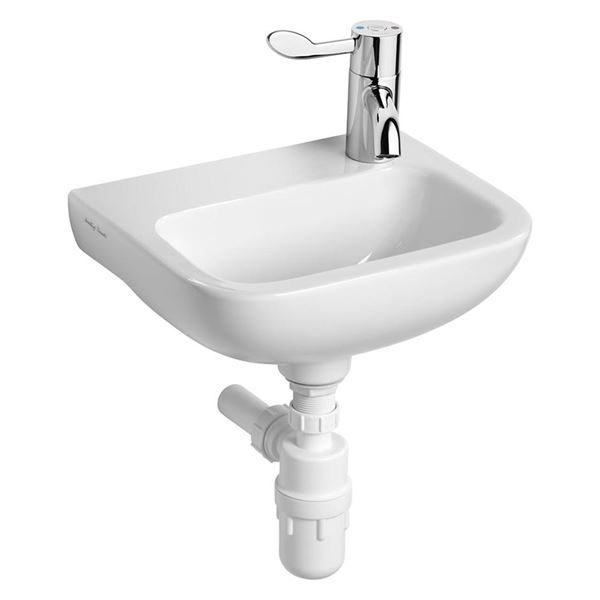 Armitage Shanks Contour 21 370 small wall hung basin right hand taphole. HBN compliant sanitaryware