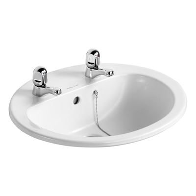 Armitage Shanks Orbit 21 550 counter top vanity basin with two tap holes - S248801