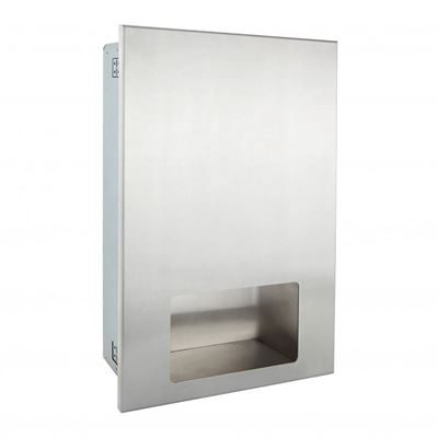 Recessed paper towel dispenser