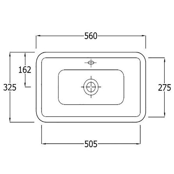 SanCeram Marden 560 countertop vanity basin