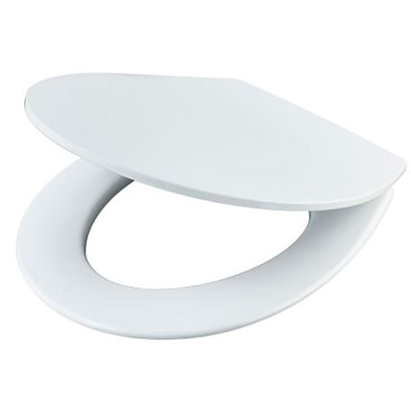 Sandringham standard close toilet seat and cover with metal hinges - E131701