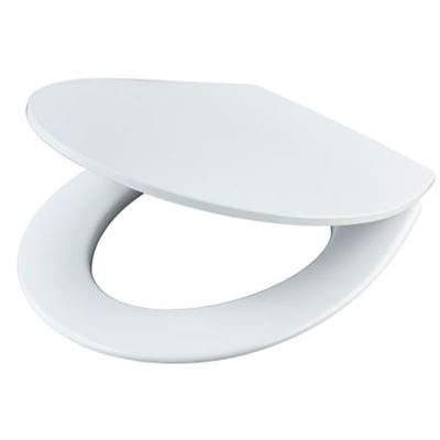 Sandringham standard close toilet seat and cover with metal hinges – white toilet seat
