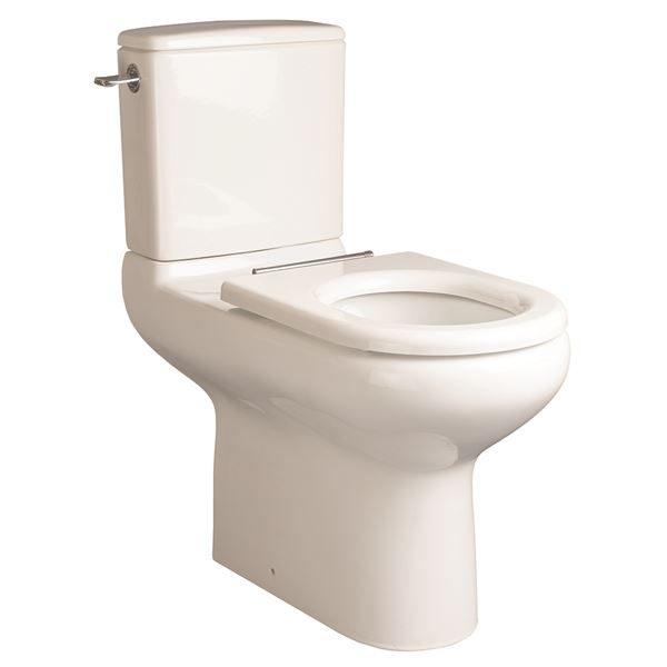 SanCeram Chartham 750 projection close coupled WC toilet with cistern. Doc M compliant for disabled toilets