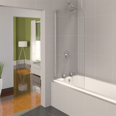 SanCeram radius 850mm bath screen
