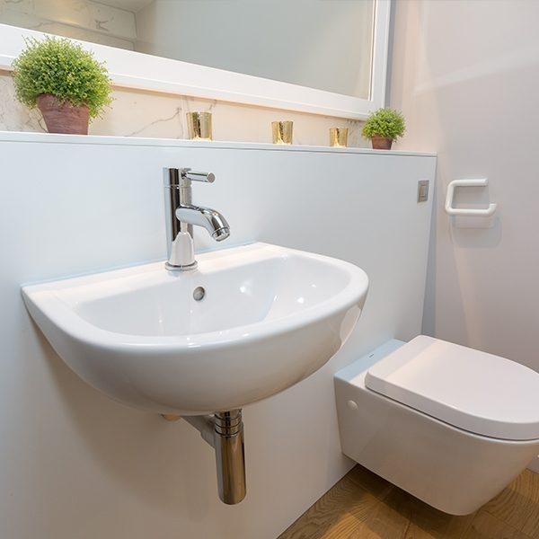 SanCeram Chartham 450 2TH modern wall hung wash basin - CHWB104