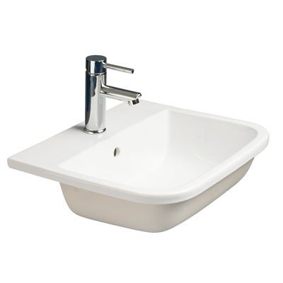 SanCeram Shenley 500 modern inset countertop basin – ideal for residential or commercial bathrooms