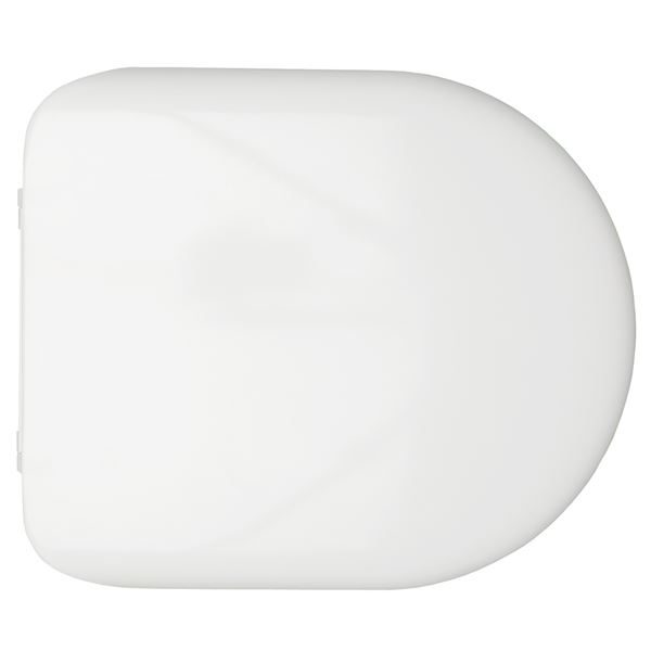 Chartham Rimless Soft Close Toilet Seat & Cover in White - CHWC111