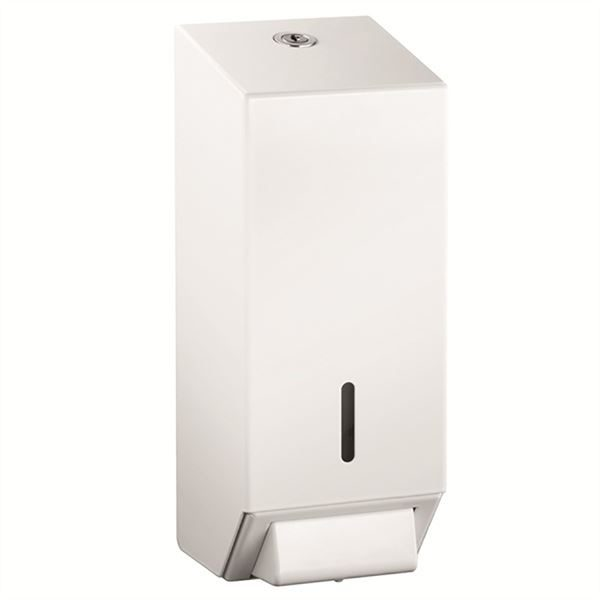 Lockable metal liquid soap dispenser