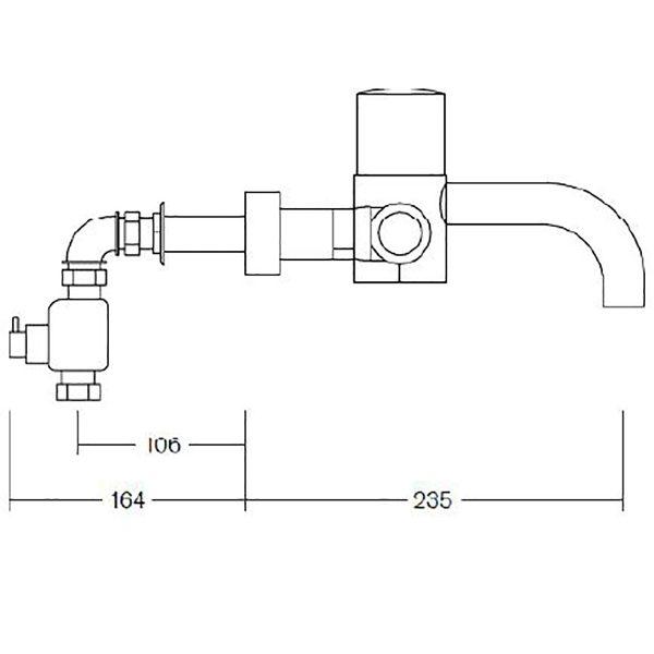 SanCeram thermostatic sensor tap