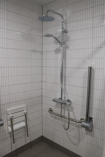 Vision cool touch bar shower with diverter to fixed head & handset at The Old Court House, Richmond