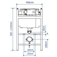 WC in Wall Support Frame with Dual Flush Cistern and Oyster Push Plate - CIST113