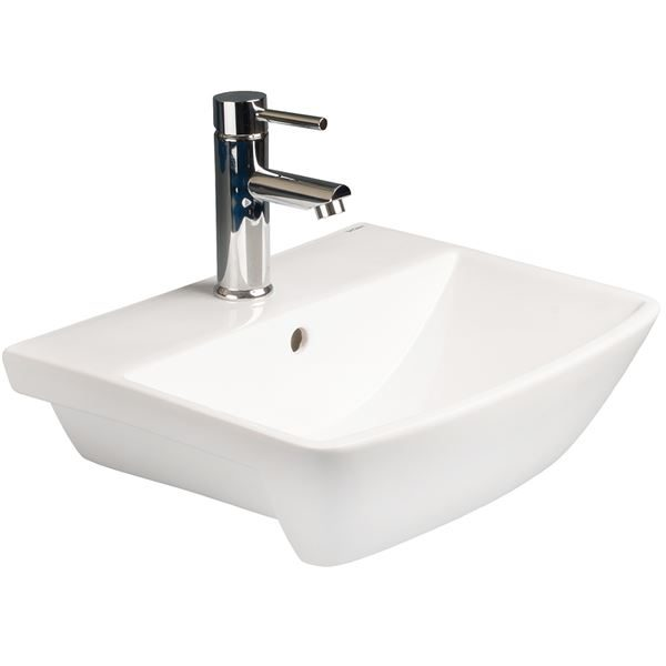 SanCeram Langley semi recessed basin 500mm