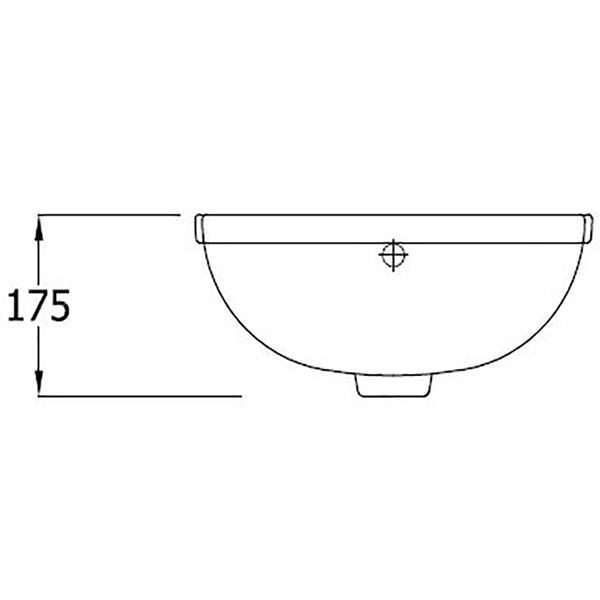 SanCeram Shenley 400 semi-recessed vanity basin with right hand tap hole