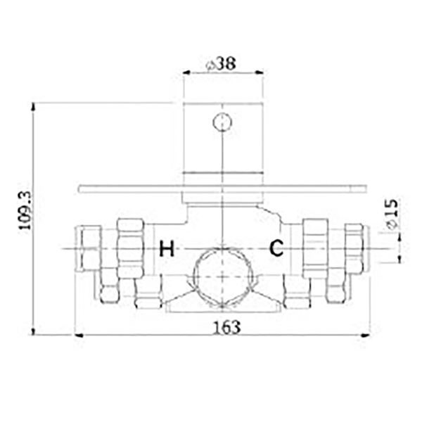 Kaha 2 outlet concealed thermostatic mixer valve