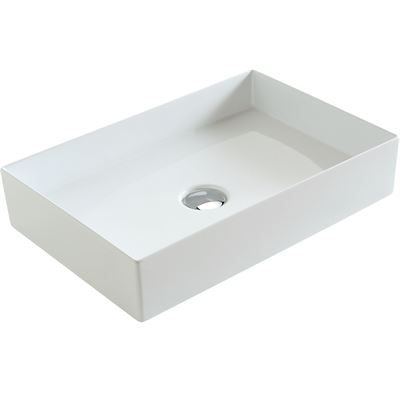 SanCeram Hartley vessel sink - rectangular vessel basin