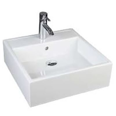 SanCeram Marden 460 Basin – for use as square sit on basin or square wall hung basin