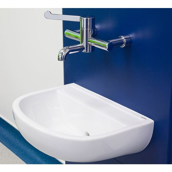 Chartham wall hung 500 back outlet basin at Acre Mills Hospital
