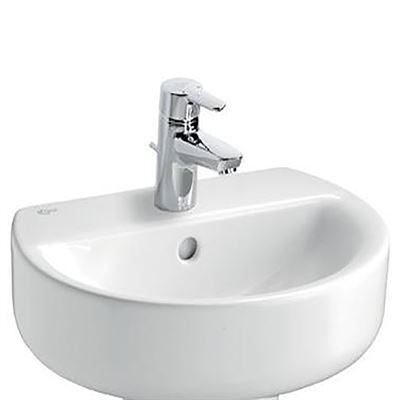Ideal Standard Concept sphere 450mm wash basin. Wall mounted basin with central tap hole.""